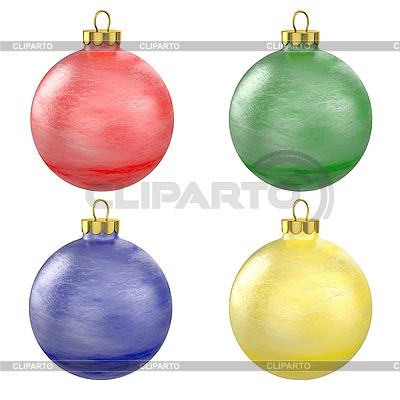 Four christmas balls | High resolution stock illustration |ID 3126788