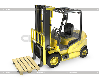 Yellow fork lift truck, with pallet   High resolution stock illustration  ID 3301224