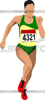 Kobieta runner | Klipart wektorowy |ID 3047576