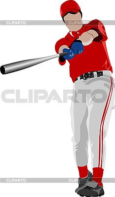 Baseball-Spieler   Stock Vektorgrafik  ID 3047614