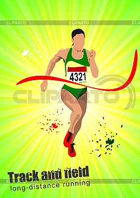 Plakat z kobieta runner | Klipart wektorowy |ID 3047629