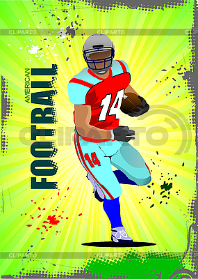 American football sport poster | Stock Vector Graphics |ID 3047701