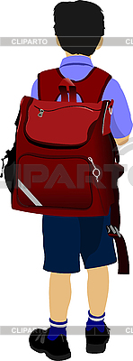 Little boy goes to school   Stock Vector Graphics  ID 3048292