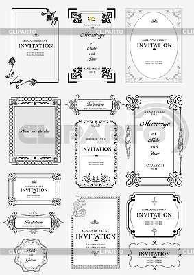 Ornate frames and ornaments with sample text | Stock Vector Graphics |ID 3048351