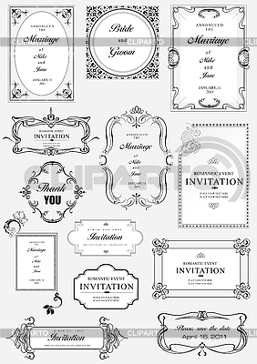 Ornate frames and ornaments with sample text | Stock Vector Graphics |ID 3048353