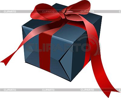 Geschenkbox mit roter Schleife | Stock Vektorgrafik |ID 3048357