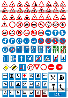 Road traffic signs | Stock Vector Graphics |ID 3048381