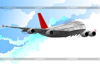 Airplane in flight | Stock Vector Graphics |ID 3048464