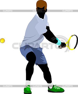 Теннисист | Векторный клипарт |ID 3048570