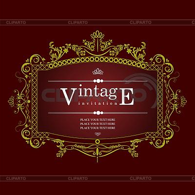 Invitation vintage card | Stock Vector Graphics |ID 3048594