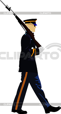 American soldier during military parade | Stock Vector Graphics |ID 3048618