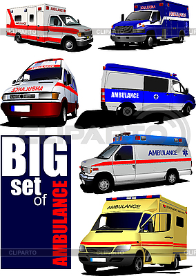 Set of modern ambulance vans | Stock Vector Graphics |ID 3048760