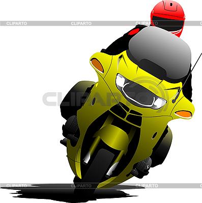 在道路上骑自行车的人 | 向量插图 |ID 3048770