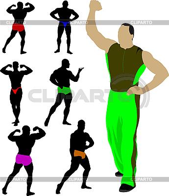 Bodybuilders collection | Stock Vector Graphics |ID 3048776