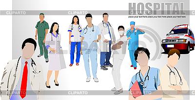 Lekarze i pielęgniarki w szpitalu | Klipart wektorowy |ID 3048798