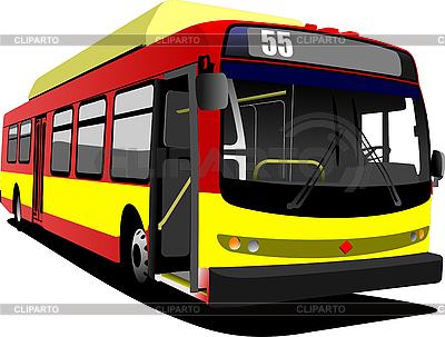 Red yellow city bus | Stock Vector Graphics |ID 3049982