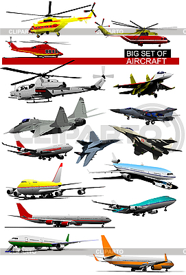 Set of aircraft | Stock Vector Graphics |ID 3050021
