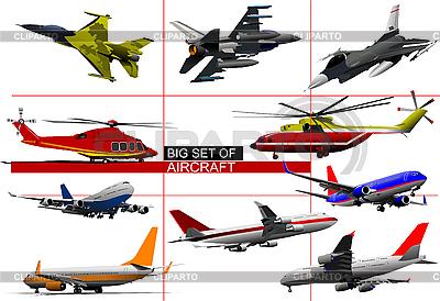 Zestaw samolotów | Klipart wektorowy |ID 3050054