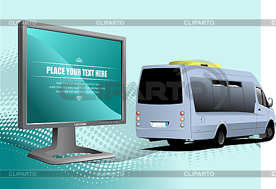 Monitor and minivan | Stock Vector Graphics |ID 3050072