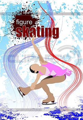 Woman figure skating | Stock Vector Graphics |ID 3050179