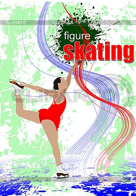 Woman figure skating   Stock Vector Graphics  ID 3050181