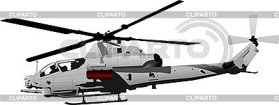 Combat helicopter | Stock Vector Graphics |ID 3050185