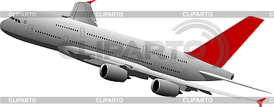 Passenger airplane in air | Stock Vector Graphics |ID 3050201