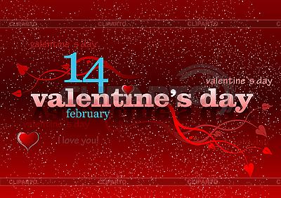 Valentine `s Day Greeting Card | Klipart wektorowy |ID 3069952