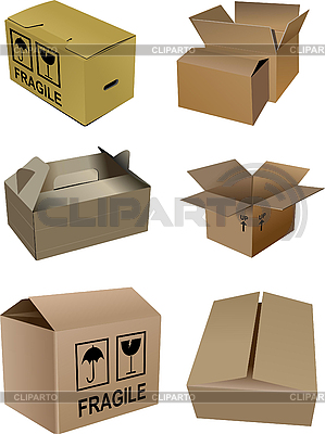 Set of carton boxes | Stock Vector Graphics |ID 3069961