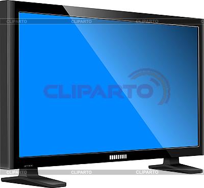 Flat computer monitor. Display | Stock Vector Graphics |ID 3069983