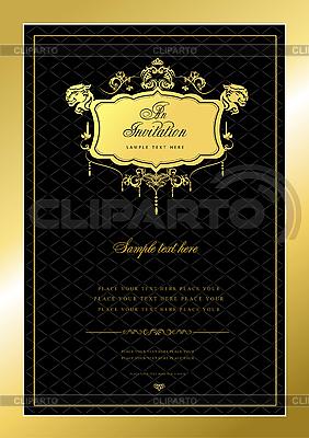 Vintage-Einladung | Stock Vektorgrafik |ID 3069987