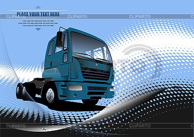 Poster mit Lkw   Stock Vektorgrafik  ID 3070026
