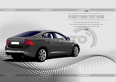 Grey car sedan | Stock Vector Graphics |ID 3070056