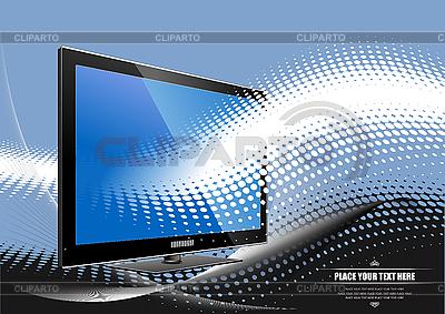 Flach-Monitor   Stock Vektorgrafik  ID 3070064