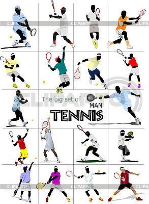 Set of man mennis players | Stock Vector Graphics |ID 3070094