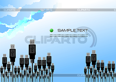 Forest of usb port cables | Stock Vector Graphics |ID 3070135