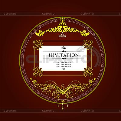 Vintage invitation card | Stock Vector Graphics |ID 3070139