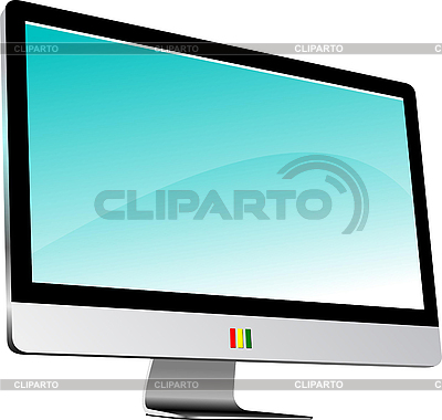 Flat computer monitor. Display | Stock Vector Graphics |ID 3070336