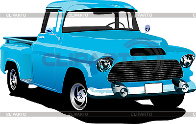 Old blue pickup | Stock Vector Graphics |ID 3070391