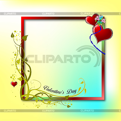 Valentine`s Day Greeting Card | Stock Vector Graphics |ID 3070438