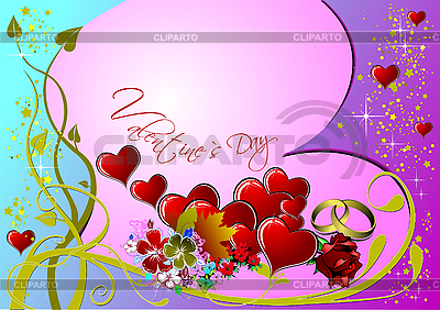 Valentine`s Day Greeting Card | Stock Vector Graphics |ID 3070440