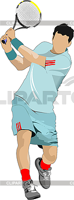 Tennis player | Stock Vector Graphics |ID 3070472