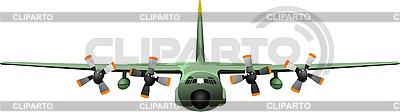 Ładunków wojskowych statków powietrznych | Klipart wektorowy |ID 3079589