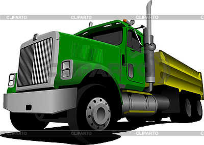 Green Tipper | Stock Vector Graphics |ID 3079621