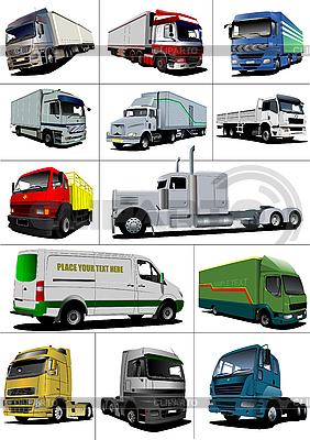 Set of of trucks. Lorry | Stock Vector Graphics |ID 3079676