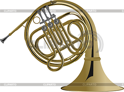 Music instrument french horn   Stock Vector Graphics  ID 3079682