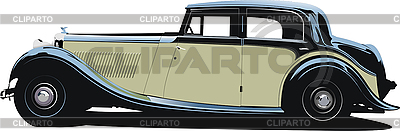 Black vintage car | Stock Vector Graphics |ID 3079788