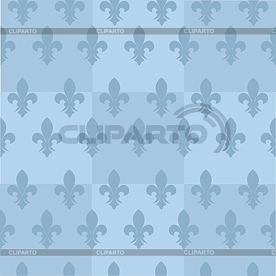 蓝色的无缝背景与鸢尾花 | 向量插图 |ID 3079882