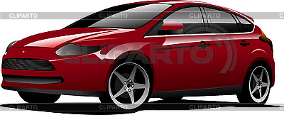 Red-brown hatchback car | Stock Vector Graphics |ID 3079997