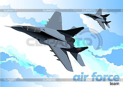 Air force team | Stock Vector Graphics |ID 3080013